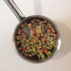 Rhubarbe pochée
