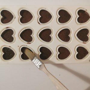 Imbibage biscuit sur insert passion chocolat au lait