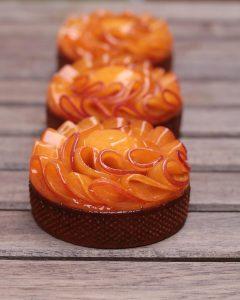 3 tartelettes abricot oeillet d'inde