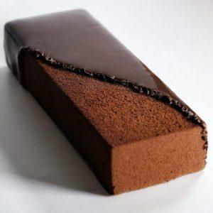 bûche écrin chocolat côté