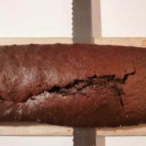 découpage cake chocolat